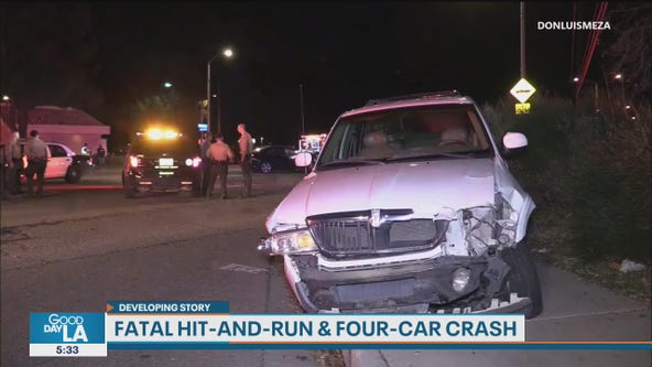 Suspected drunk driver arrested after hit-and-run, multi-car crash in Palmdale area