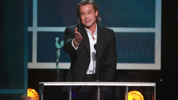 Brad Pitt moved by SAG win