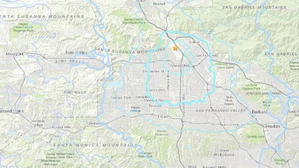 Granada Hills earthquake rattles Southland overnight