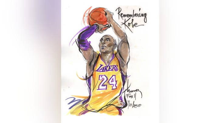 Sketch Artist Pays Tribute To Kobe Bryant Fox 11 Los Angeles