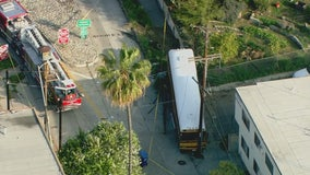 Four kids transported to hospital following school bus crash in Elysian Park