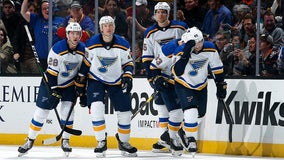 Bouwmeester collapses on bench, Ducks-Blues postponed