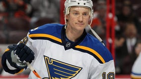 Blues' Jay Bouwmeester undergoing tests after suffering cardiac episode in game against Anaheim Ducks