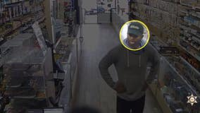 Man caught on camera stealing hundreds of scratchers from two San Dimas stores