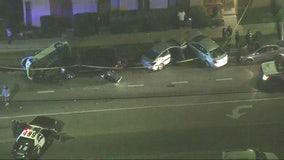 LAPD investigating bizarre multi-car collision in South LA