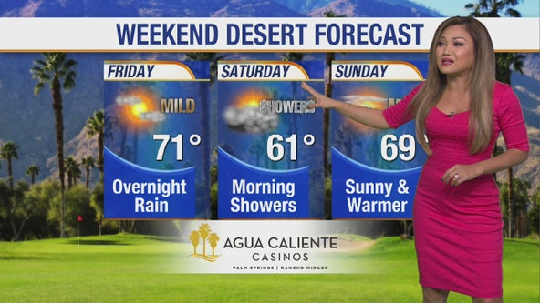 Weekend desert forecast
