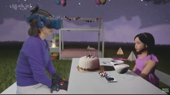 Virtual reality helping grieving people connect with lost loved ones