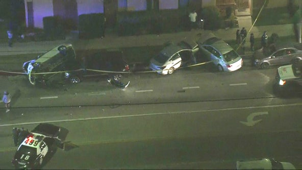 LAPD investigating bizarre multi-car collision in South LA