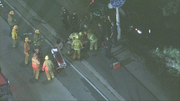 Pursuit ends in horrific crash in San Fernando Valley