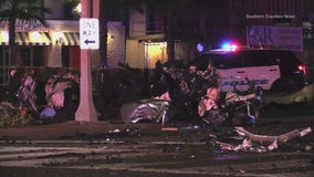 Man killed, woman injured after high-speed pursuit ends in fiery crash