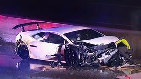 Mercedes-Benz, Lamborghini collide with Amazon truck on 101 Freeway