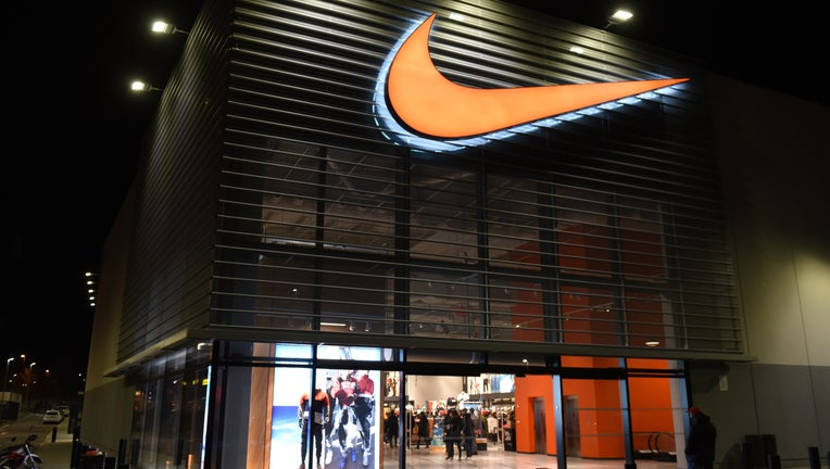 A view of a Nike store