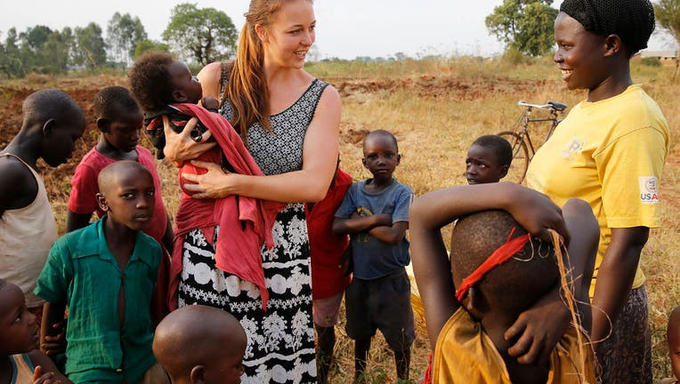 Peace Corps worker in Uganda.