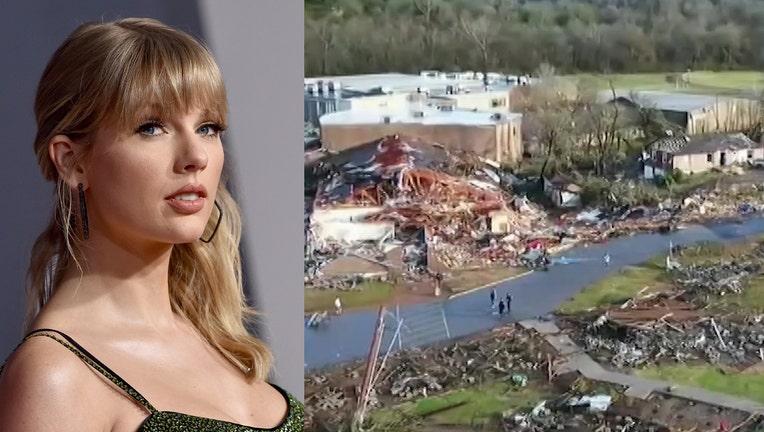taylor swift tornado tn donation