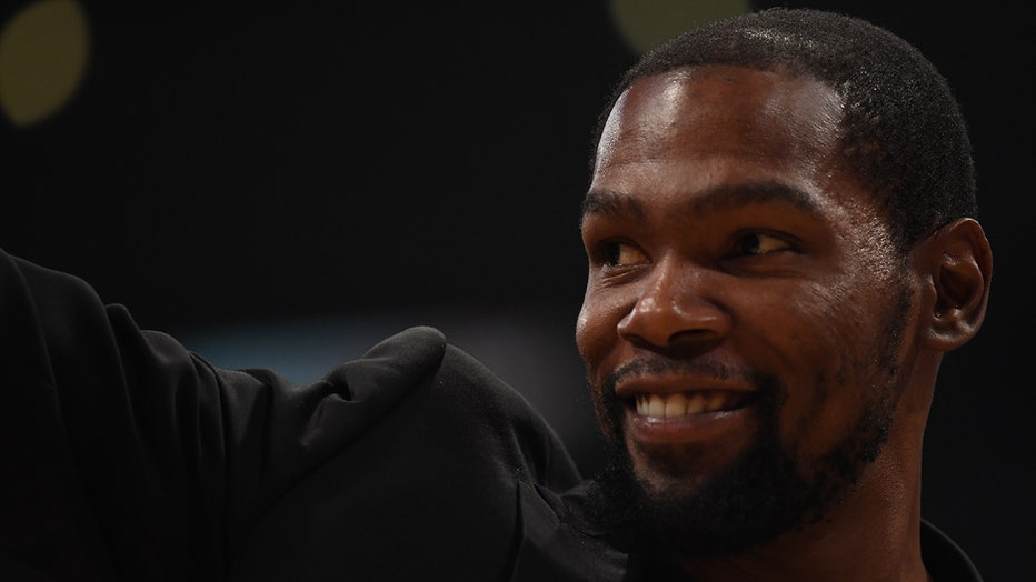 Kevin Durant smiles