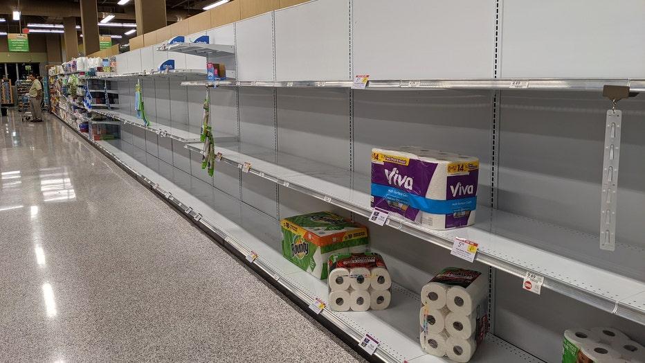 publix empty toilet paper shelves