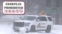 As fresh snow falls, Big Bear sheriff warns that snow play is prohibited under stay-at-home order