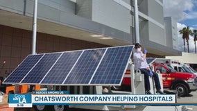 Heroes Among Us: Chatsworth company loans mobile solar trailers to hospitals