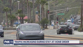 Traffic increasing during stay-at-home order