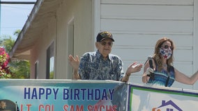 Pandemic Party: World War II veteran turns 105 and gets special birthday celebration