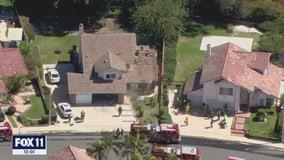 Fire in Walnut home leaves two people dead, three firefighters hurt