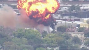 Watch: Fireball erupts at Burbank electrical facility