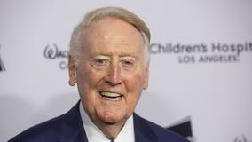 Iconic Dodgers broadcaster Vin Scully hospitalized after fall in his home; 'resting comfortably'