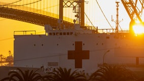 USNS Mercy hospital ship crewmember tests positive for COVID-19