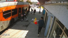 Vicious assault after man exits bus caught on camera
