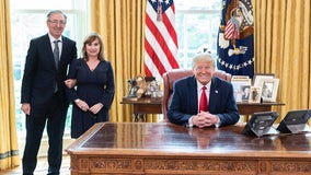 Santa Clarita couple meets with President Trump after battle with COVID-19