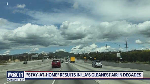 Stay-at-home order results in l.A's cleanest air in decades