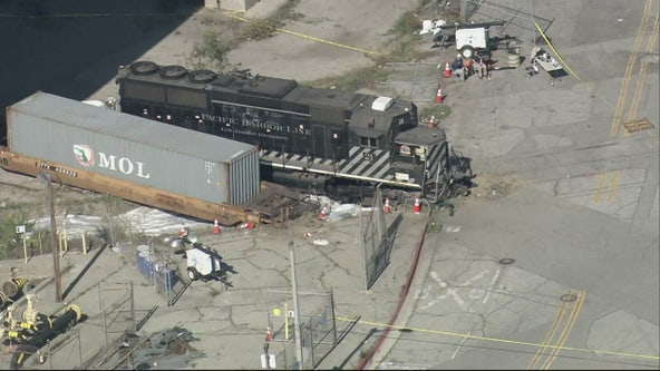 Train engineer arrested for purposely derailing train near 'Mercy' hospital ship at Port of LA