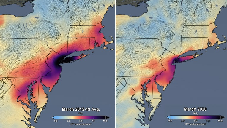 nasa pollution before after