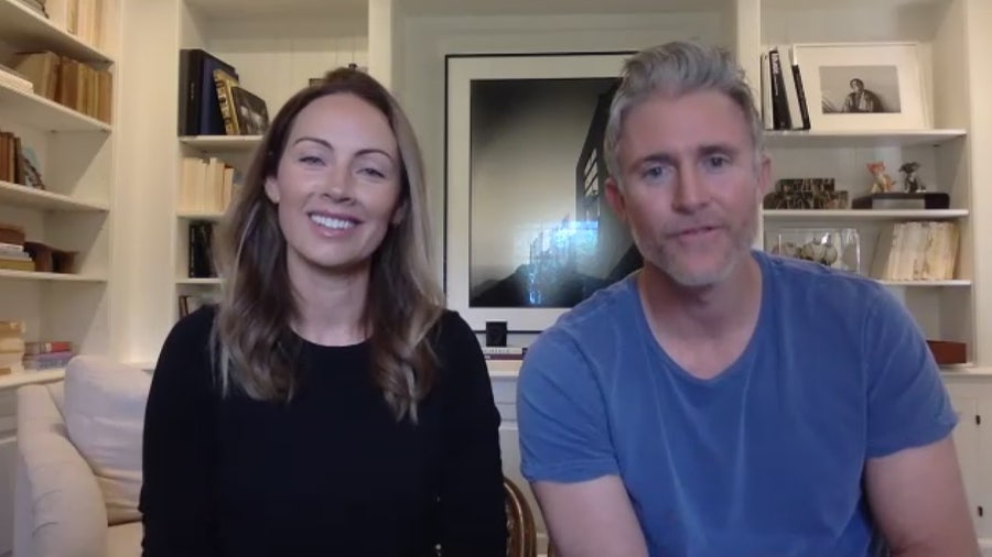 Former Dodger Chase Utley and wife discuss their busy household during pandemic