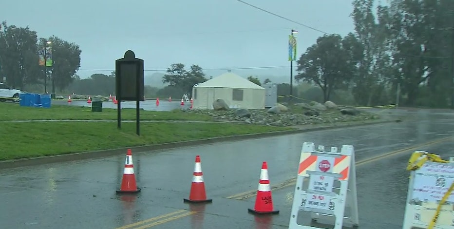 Rain Postpones Appointments At L A County Drive Thru Coronavirus Testing Sites