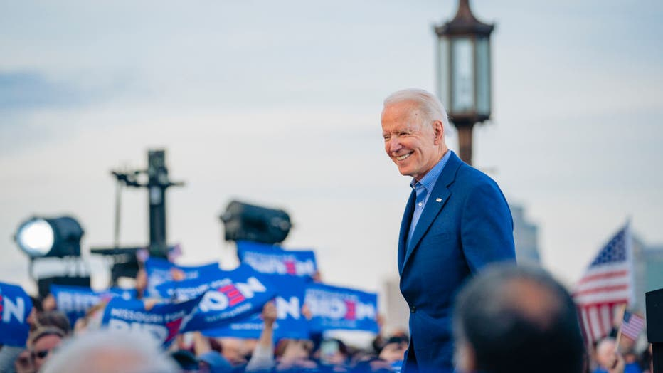 Joe Biden Campaigns In Kansas City Ahead Of Tuesday's Primary