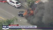Police cars torched  in the Fairfax District