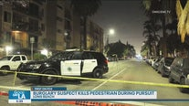 Long Beach burglary suspect kills pedestrian during pursuit