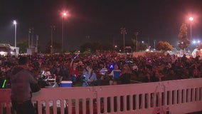 Third of July fireworks show in La Puente