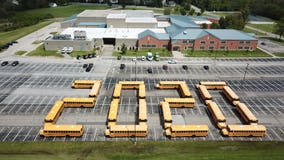 'This is for you': School bus drivers form '2020' in touching tribute to graduating seniors