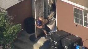 San Gabriel standoff ends, suspect fatally shot