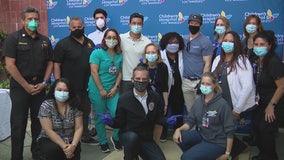 Mark Wahlberg, Mario Lopez thank Children's Hospital of LA staff on National Nurses Day