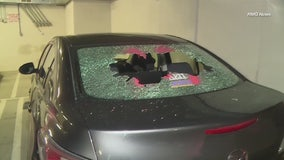 Eight cars in San Fernando Valley apartment building vandalized overnight
