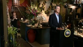 California governor showcases reopened florist shop just ahead of Mother's Day