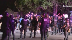 Nine arrests made after George Floyd protest turns violent: Fontana PD