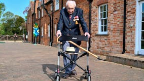Captain Tom Moore, 100, to be knighted after raising nearly $40M to help doctors, nurses