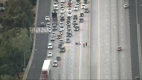 Deadly motorcycle crash shuts down portion of 405 Freeway in North Hills