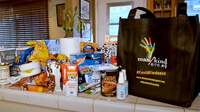 Man/Kind Project helping homeless during COVID-19 pandemic by handing out kindness bags