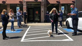 Che-Che the dog, who lost both owners to COVID-19, cheered by shelter staff after finding new home