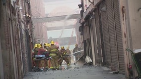 Firefighters remain hospitalized following fiery explosion in downtown LA